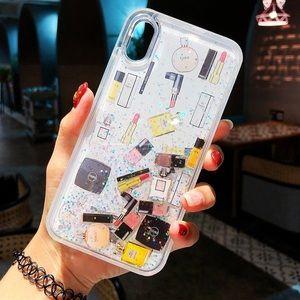 iPhone XS MAX Makeup inside Liquid Glitter Case